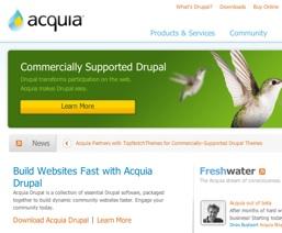 Az Acquia honlapja