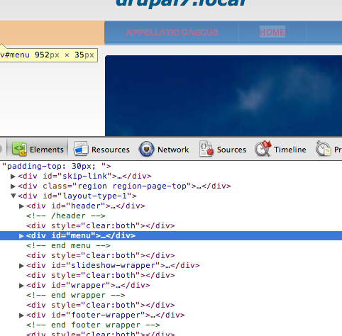 Alsmink HTML kimenete vizsgálat alatt
